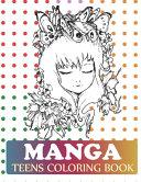 Manga Teens Coloring Book Book PDF