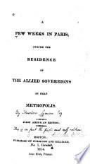 A Few Weeks In Paris Book PDF
