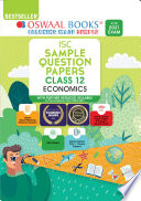 Oswaal ISC Sample Question Papers Class 12 Economics Book (For 2021 Exam)