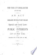 New York City Consolidation Act of 1882