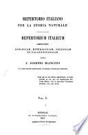 Repertorio Italiano Per La Storia Naturale