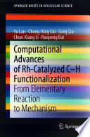 Computational Advances of Rh Catalyzed C   H Functionalization
