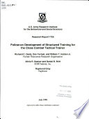 Follow on Development of Structured Training for the Close Combat Tactical Trainer
