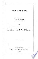 Chambers s Papers for the People Book
