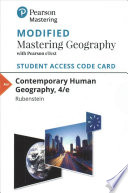 Contemporary Human Geography Modified Mastering Geography Access Code