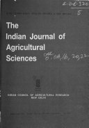 The Indian Journal of Agricultural Sciences Book