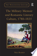 The Military Memoir and Romantic Literary Culture  1780   1835
