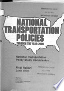 National Transportation Policies Through the Year 2000