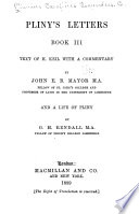 Pliny s Letters  Books I    II    Book III