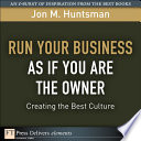 Run Your Business as if You Are the Owner Book