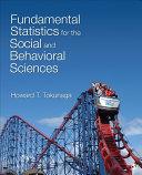 Fundamental Statistics for the Social and Behavioral Sciences ebook