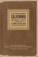 Up and Down California in 1860 1864
