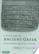 A History of Ancient Greek Book