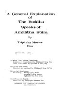 A General Explanation of The Buddha Speaks of Amit  bha S  tra