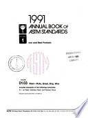 1991 Annual Book of ASTM Standards: 04, Steel