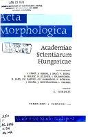 Acta Morphologica Academiae Scientiarum Hungaricae