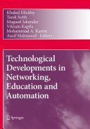 Technological Developments in Networking  Education and Automation
