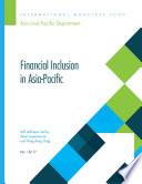 Financial Inclusion in Asia Pacific