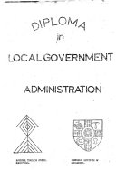 Diploma in Local Government Administration
