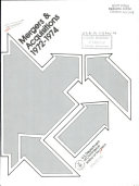 Mergers & Acquisitions, 1972-1974