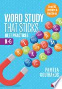 Word Study That Sticks Book PDF