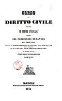 Corso di diritto civile secondo il codice francese opera del professore Duranton