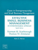 Cases in Entrepreneurship and Small Business Management