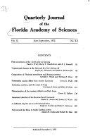 Pdf Quarterly Journal of the Florida Academy of Sciences