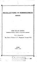 Recollections and Reminiscences