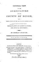 Agricultural Surveys  Devon  1808