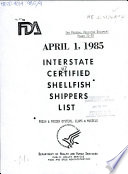 Interstate Certified Shellfish Shippers List