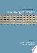 The Sage Handbook Of Criminological Theory Book PDF