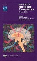 Manual of Neurologic Therapeutics