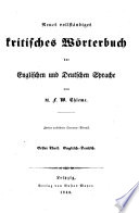 A New and complete Grammatical Dictionary of the English and German Languages