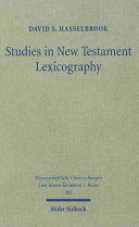 Studies in New Testament Lexicography