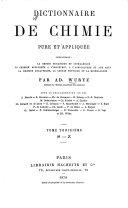 Dictionnaire de chimie pure et appliquée ebook