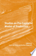 Studies on Pre-Capitalist Modes of Production