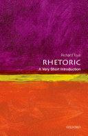 Pdf Rhetoric: A Very Short Introduction