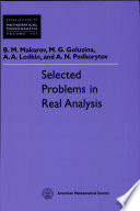 Selected Problems in Real Analysis
