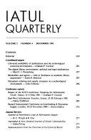 IATUL Quarterly