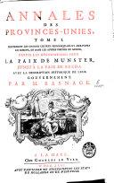 Annales des Provinces-Unies, jusqu'à la paix de Nimègue