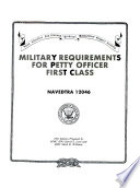 Military Requirements for Petty Officer First Class Book PDF