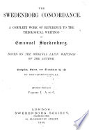 The Swedenborg Concordance Book