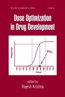 Dose Optimization In Drug Development Book PDF
