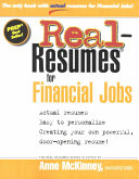 Real-resumes for Financial Jobs