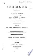 Sermons Translated from the Original French of the Late Rev  James Saurin     Book PDF
