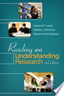"""Reading and Understanding Research"" by Lawrence F. Locke, Stephen J. Silverman, Waneen Wyrick Spirduso"