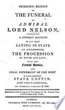 Fairburn's edition of the Funeral of Admiral Lord Nelson, etc