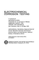 Electrochemical Corrosion Testing Book