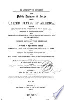 The    Public Statutes at Large of the United States of America     Ed  by Richard Peters Book PDF